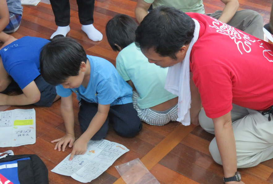Participants then examined the collected ants under a magnifying glass and identified them by using the taxonomic key to figure out which ones lived among humans.